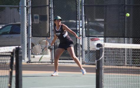 Girls varsity tennis hosts and defeats Ukiah