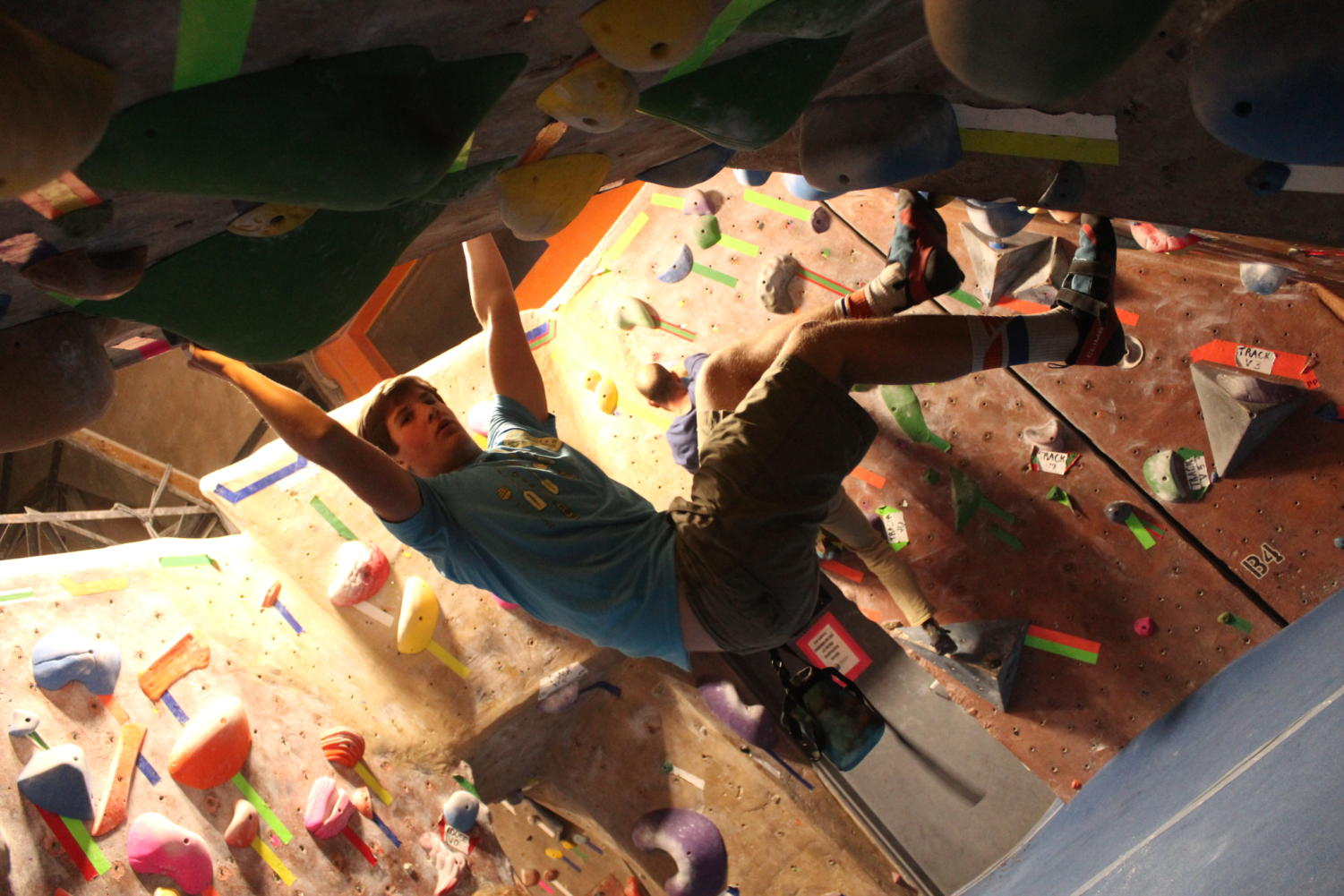 Senior Mark Paley shares his new favorite activity: rock climbing.