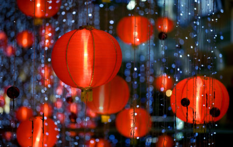 Red Lanterns are hung during Chinese New Year.
