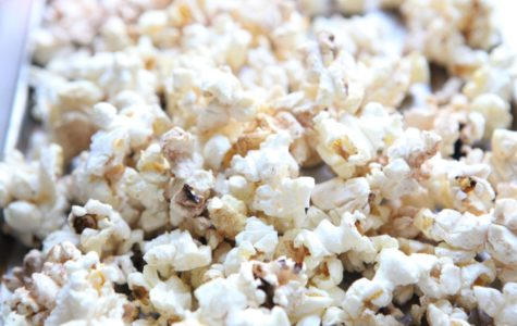 Honey cinnamon popcorn incorporates the spices and flavors characteristic of a winter snack while showcasing the sweet side of popcorn.