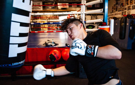 Boxer Josmar Altamirano practices his skills at Nor-Cal Speed Boxing