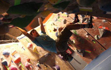 Senior Mark Paley shares his new favorite activity: rock climbing.