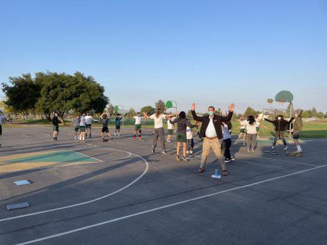 Casa Grande Principal Dr. Dan Ostermann, substitute teaches a zero period PE class